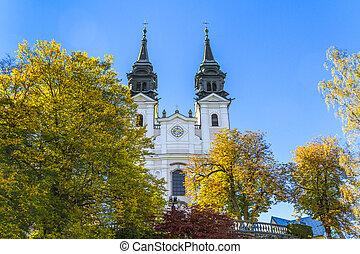Famous Poestlingberg Basilica, Linz, Austria