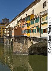 Famous Ponte Vecchio Bridge in Florence