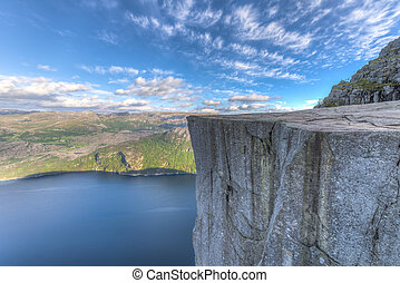 Famous Pulpit Rock in Norway