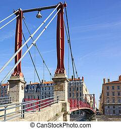 Famous red footbridge