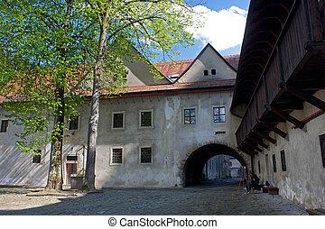 Famous Red Monastery called Cerveny Klastor in Slovakia,...