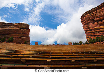 Famous Red Rocks Amphitheater in Denver - Famous Historic...