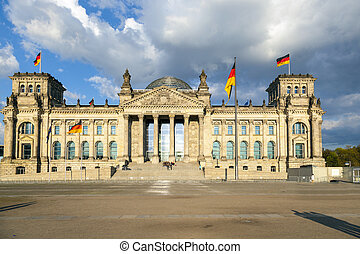 famous Reichstag in Berlin, Germany