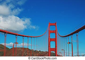 Famous San Francisco's Golden Gate bridge.