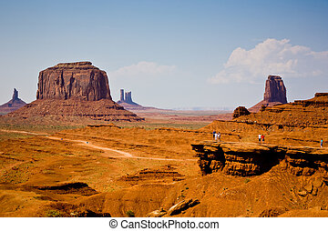 famous scenic Butte in Monument Valley - John Fords Place is...