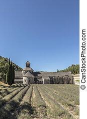famous Senanque cloister in Gordes, Provence, France