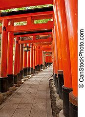 Fushimi Inari - Famous shinto shrine of Fushimi Inari Taisha...