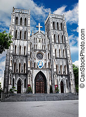 Famous St Joseph Cathedral in Hanoi, Vietnam - Saint Joseph...
