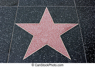 Empty star of a famous person on Avenue of Stars