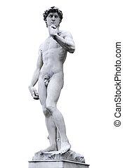 David - Famous statue by Michelangelo - David from Florence,...