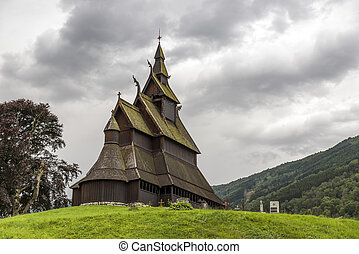 famous stave church in Vik - Famous landmark stave church in...