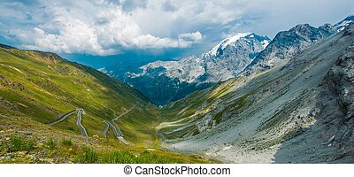 Famous Stelvio Mountain Pass in Northern Italy Bordering ...