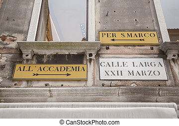 Famous Street Signs in Venice