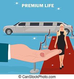 famous, success concept, limousine