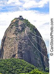 Famous Sugar Loaf mountain in Rio de Janeiro