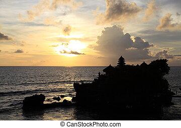 Famous temple Pura Tanah Lot at Bali