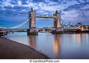 Famous Tower Bridge at Sunset, London, United Kingdom