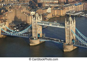 Famous Tower Bridge in London, England