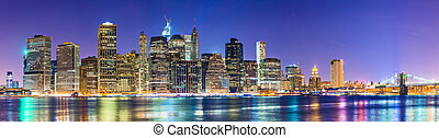 New York City - Famous view of New York City over the East ...