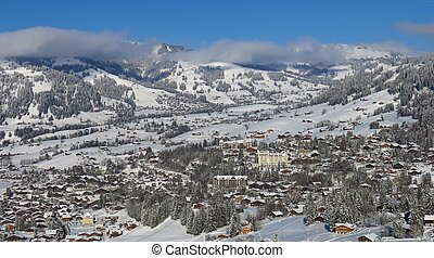 Famous village and holiday resort Gstaad