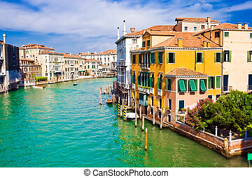 Grand Canal in Venice - Famous water street - Grand Canal in...