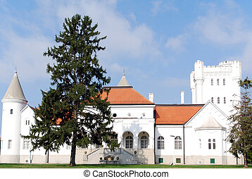 famous white castle in serbia