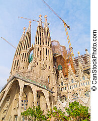 Sagrada Familia, Barcelona, Spain - famouse spanish church...