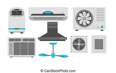 Fan and air conditioner ventilation and exhaust hood...