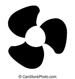 Fan blades black color icon .