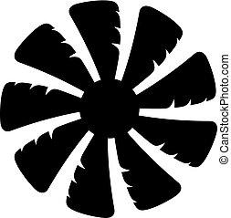 Fan blades icon - Fan blades, shade picture