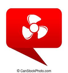 fan bubble red icon