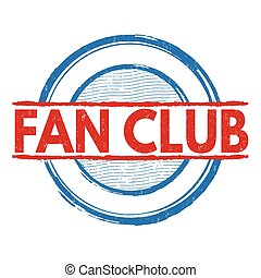 Fan Club stamp - Fan Club grunge rubber stamp on white...