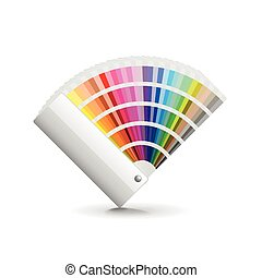 Fan color isolated on white vector - Fan color isolated on...