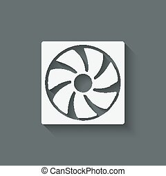 fan design symbol - vector illustration. eps 10