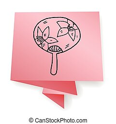 Fan doodle