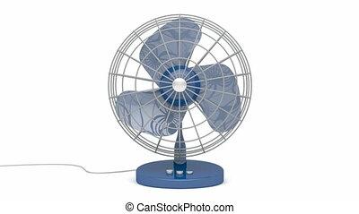 Fan - Electric fan blowing fresh air