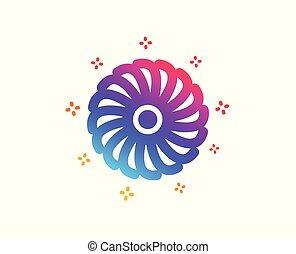 Fan engine icon. Jet turbine sign. Vector