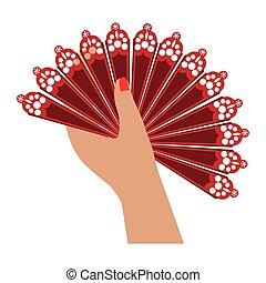 fan flamenco accesory icon