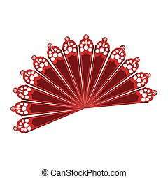 fan flamenco accesory icon