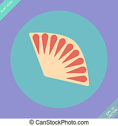 Fan icon isolated - vector illustration. Flat