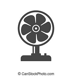 Fan Icon on White Background. Vector