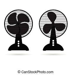 fan icon ventilation illustration