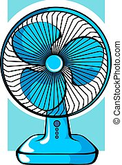 Fan	 - Illustration of table fan arrangement