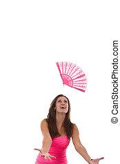 fan in the air