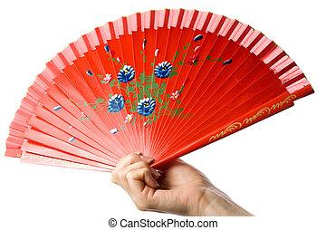 Fan in the hand