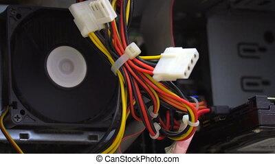 Fan inside the computer - The fan inside the computer