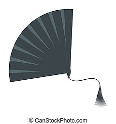 Fan Isolated on White Background. Vector Illustration.