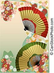 fan, japansk
