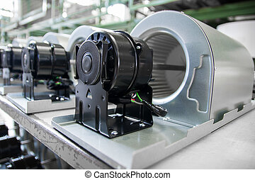 fan motors on the rollers gravitational ready to be used