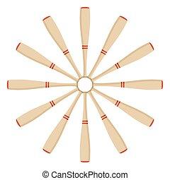 fan of baseball bats
